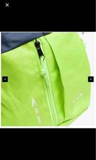 Backpack bag. Lime green