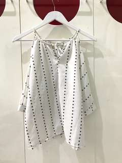 White dotted shirt