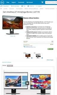 Mint Conditon Dell 27inch LED Monitor