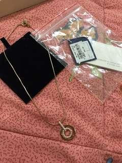 Swarovski Rhodium and Circle Necklace