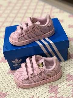 🚚 【二手正品】愛迪達粉色寶寶鞋
