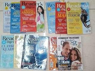Reader's Digest Magazine Random Past Issues