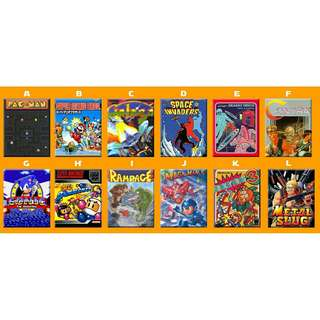Retro Video Games Artwork Poster Ref Magnet Collectible