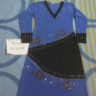jubah dress blink girl 3-4 years (inc poslaju sm)
