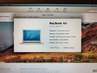 Apple Macbook Air 13-inch 1.8GHZ, 4GB (Free Apple external DVD Drive)