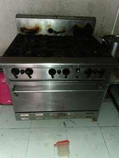 Kompor resto 6 stove with oven