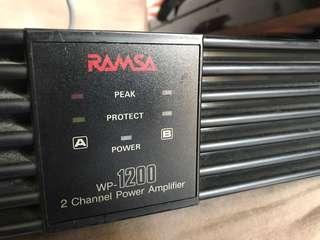Ramsa WP1200 2 Channel Power Amplifier
