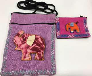 泰國民族象仔側孭袋 送散子包 (買一送一)