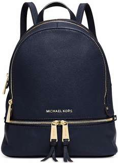 Authentic MK Rhea Backpack in Navy Blue