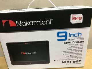 "Nakamichi NHM-090 Headrest Clip On 9"""