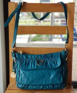 Authentic Polo Franco Teal Green Ruched Sling