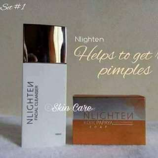 Nlighten skin care set for pimples