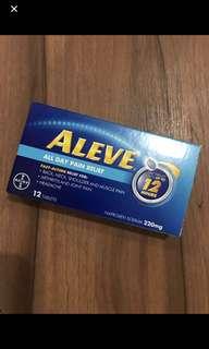 Naproxen 220mg (Aleve) painkiller