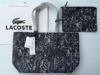 🐊Aunthentic Lacoste Reversible Horizontal Tote Bag‼️