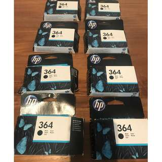 HP 364 ink cartridges x 8