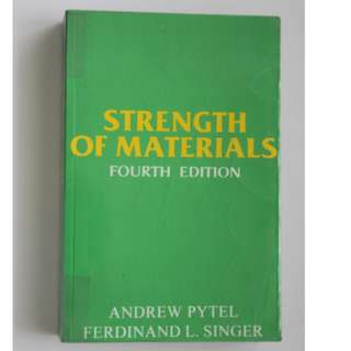 Strength of Materials 4th Edition (Andrew Pytel And Ferdinand Singer)