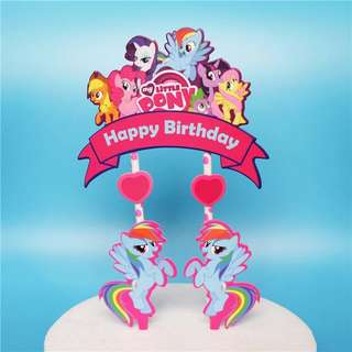 MLP My Little Pony party supply - cake topper / DIY Cake Deco