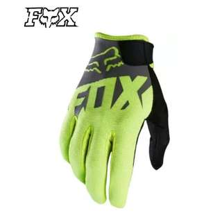 INSTOCK SIZE L ★Fox High Quality Motorcycle Gloves ★ E-Scooter ★ Motocross ★ Scrambler ★ Offroad Dirt Bike ★Black Grey ★ New arrivals while stock lasts