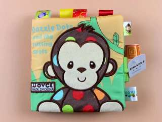Fabric Learning Book- Monkey, Dog, Owl, Sheep