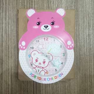 Pinky Bear Alarm Clock / Jam Waker Bear Pink