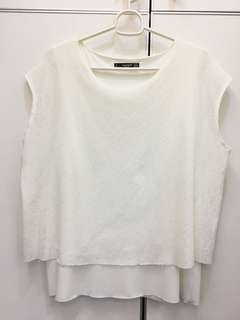 Mango white blouse 2 layer S