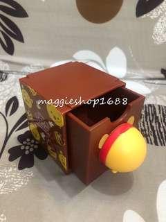7 -11 × Disney 迪士尼Tsum Tsum 3D造型Winnie the poon 小熊維尼(尾)百變組合擺設盒子公仔層層疊