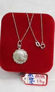 Pure white gold nevklace