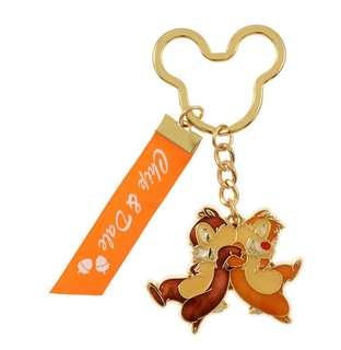 日本 Disney Store 直送 Chip n Dale 鋼牙大鼻絲帶掛飾匙扣