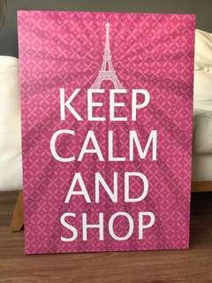 Keep Calm & Shop Poster