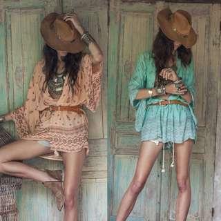 波希米亞風性感罩衫衣服
