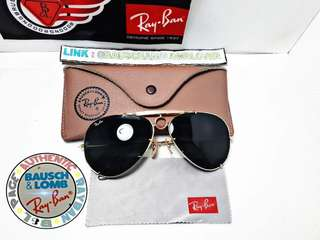 VINTAGE RAYBAN AVIATOR SHARPSHOOTER MADE IN U.S.A. B&L 62MM
