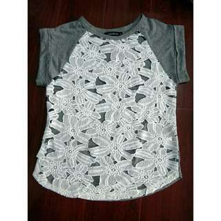 Women's Shirt Blouse Lace Floral Tee