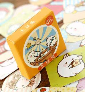 Molang seal label stickers