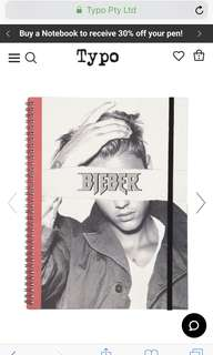 typo Bieber A4 notebook