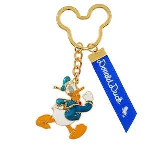 日本 Disney Store 直送 Donald Duck 唐老鴨絲帶掛飾匙扣