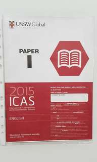 ICAS ENGLISH 2015 PAPER I with ANSWER SHEET For SECONDARY 4&5