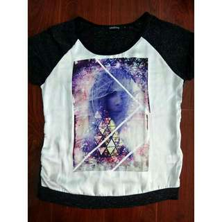 Women's Blouse Graphic Shirt Tee Folded and Hung