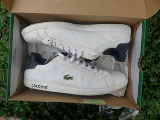 Preloved Shoes for Men Lacoste Canvas White