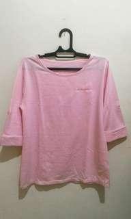 Kaos Pink (lengan 3/4)