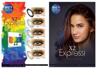 Softlens X2 EXPRESSI Color LIGHT BROWN By EXOTICON