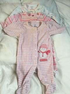 Carters fleece sleep suit