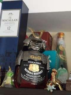 陳年舊版武市武將G&G威士忌750ml全套連盒。
