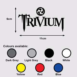 TRIVIUM Logo Premium Vinyl Sticker (Music Heavy Metal)