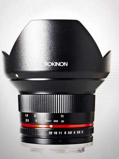 Rokinon 12mm f2 e-mount Sony lens