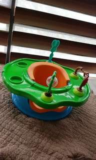 Booster seat cum forest activity tray