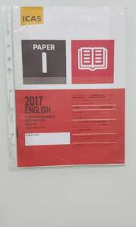 ICAS ENGLISH 2017 PAPER I C/W ANSWER SHEET FOR SECONDARY 4&5