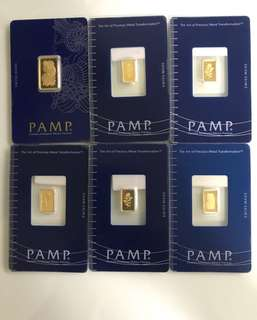 PAMP Pure Gold Series (999 Gold) - 1g Bar