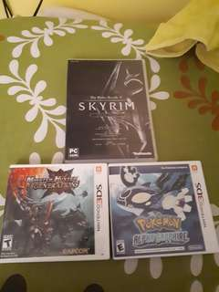 Selling 3DS games & pc game