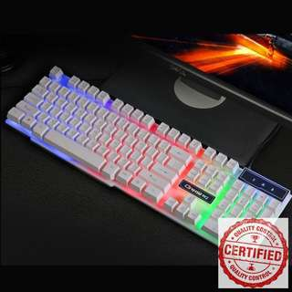 🚚 BNIB Rainbow Backlit White Gaming Keyboard RA22