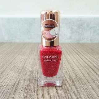 MINISO Nail Polish / Kutek MINISO (Red Glitter)
